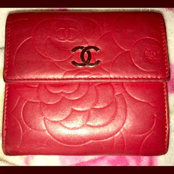 7b28ac06ab0b CHANEL Bags | Red Camellia Flower Bifold Wallet | Poshmark
